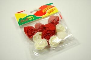 Mini rózsa 10db/cs krém, piros