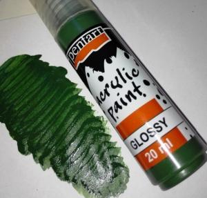 Fényes akrilfesték fenyőzöld 20 ml