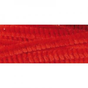 Zsenília 6mm piros 6x300mm 10db/cs
