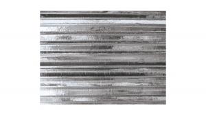 PKPHK00199 Metál hullámkarton 50x70 cm, ezüst