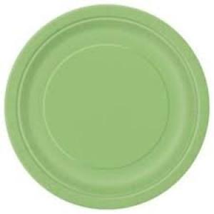 Papírtányér 23 cm zöld