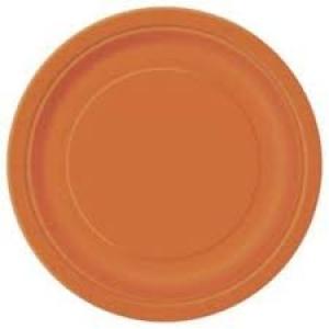Papírtányér 23 cm narancssárga
