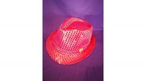 Villogó, flitteres rózsaszín parti kalap