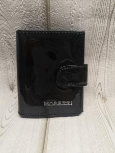 Bőr pénztárca MORETTI fekete