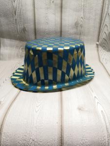 Szilveszteri kék-arany kalap