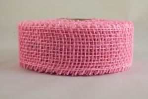 Juta szalag 5cmx10m rózsaszín