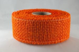 Juta szalag 5cmx10m narancssárga