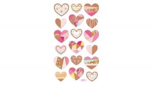 Stick Art dekorgumi matrica 10x16 cm, Hearts