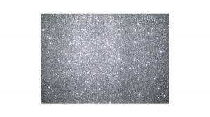 KDKMO00930 Csillámos dekorgumi lap 2 mm, A/4, ezüst