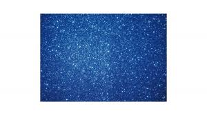 KDKMO00933 Csillámos dekorgumi lap 2 mm, A/4, kék