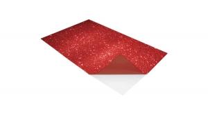 KDKMO00936 Öntapadó dekorgumi lap, csillámos, 2 mm, A/4, piros