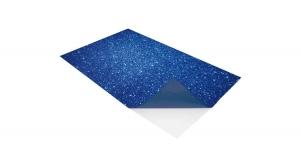 KDKMO00938 Öntapadó dekorgumi lap, csillámos, 2 mm, A/4, kék
