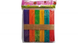 Spatula, lapos színes fapálca 115x10 mm, 50db/csomag