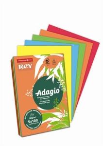 """""""   Másolópapír, színes, A4, 80 g, 5x100 lap, REY """"""""Adagio"""""""", intenzív mix """""""