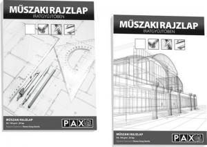 Műszaki rajzlap Pax A4/180g 20ív/dosszié
