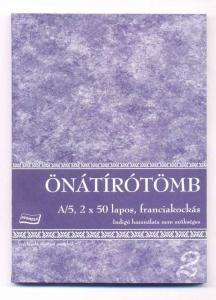 ÖNÁTÍRÓTÖMB A/5, 50x2 PÉLDÁNYOS