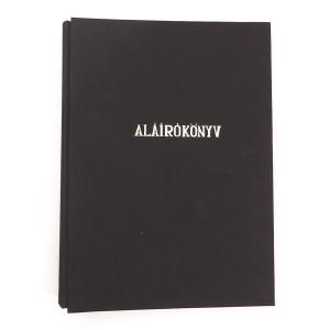 Aláírókönyv B/4 SNP 14 rekeszes fekete