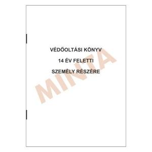 C.3337-11 VÉDŐOLTÁSI KÖNYV 14 ÉV FELETTI SZEMÉLY RÉSZÉRE IRKAFÜZÖTT FÜZET, A/6