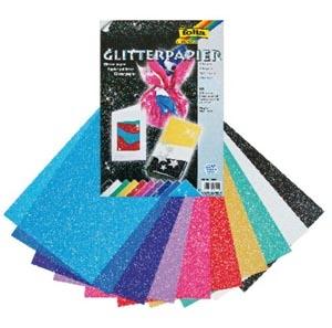 Glitteres papír 10 levél, 23 x 33 cm