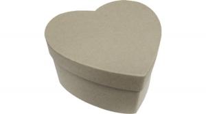 Natúr papírdoboz szív alakú