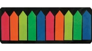 Office Art jelölőcímke 10 neon szín, nyíl végű