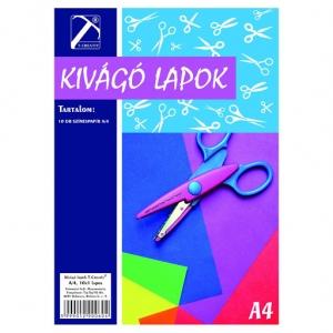 Kivágó lapok A/4 10 lapos színes T-creativ