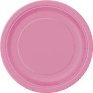 Papírtányér 23 cm rózsaszín