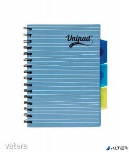 Unipad project book regiszter spirál füzet vonalas A/5 200lap, 60g