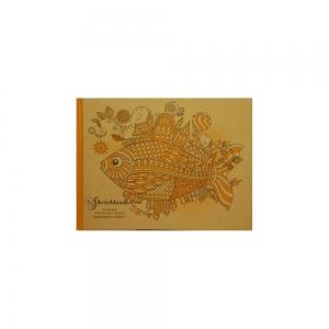 Vázlatfüzet A5 36lap natúr/sima lapos/kemény fedeles
