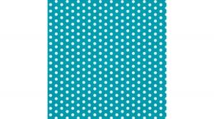 szalvéta 33x33 cm, 3 rétegű, 20 lapos, pöttyös, Bolas turquoise