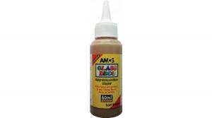 Amos üvegfóliafesték 60 ml, világosbarna